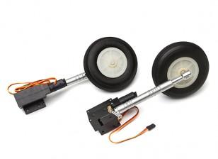 Turnigy Full Metal Servoless 90 gradi Twist n Ruotare Retracts / di gambe / ruote 1.20 (P-40)