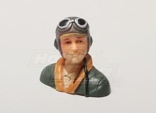 WW2 / Classic Era Parkfly Pilot (verde) (H38 x L42 x D22mm)