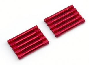 3x37mm alu. peso leggero basamento rotondo (rosso)