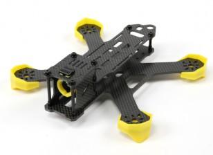interasse iagonal: 180 mm, peso telaio: 89g basso cente, in fibra di carbonio 3K completa
