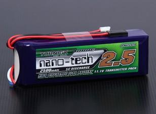 Turnigy nano-tech 2500mAh 3S1P 5 ~ 10C trasmettitore Lipo Confezione