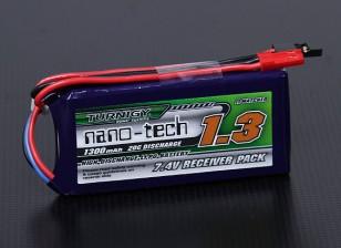 Turnigy nano-tech 1300mAh 2S1P 20 ~ 40C Lipo ricevitore pack