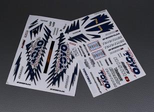 Auto Sticker Foglio Adesivo - Toyo 1/10 Scala