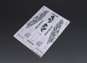 Auto Sticker Foglio Adesivo - Velocità di carica 1/10 Scala