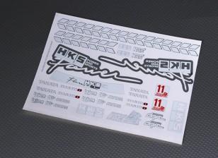 Auto Sticker Foglio Adesivo - HKS 1/10 Scala
