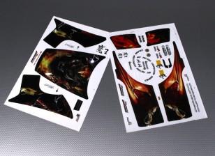Auto Sticker Foglio Adesivo - JSRacing 1/10 Scala