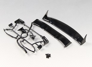 Spoiler posteriore con proiettile specchio