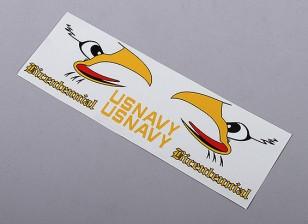 US Navy di coda Auto Sticker adesivo - Bicentenario (tuta 70 millimetri / 90 millimetri FES)