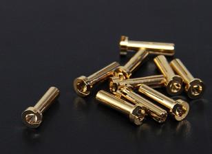 4 millimetri oro Connettori - Low Profile (10pc)