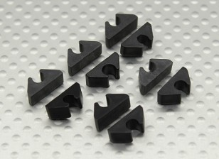 Air Line Linea / carburante / Cable Clip Tidy per 4mm OD (10pc)