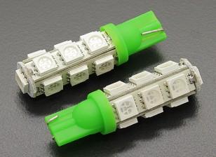 Luce del cereale LED 12V 2.6W (13 LED) - verde (2 pezzi)
