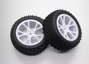 Posteriore Buggy pneumatici Set (Split 5 razze) - 1/10 Quanum Vandal 4WD corsa buggy (2 pezzi)