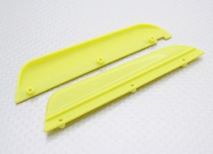 A sinistra Guardia Fango / Right 1/16 Turnigy 4WD nitro che corre carrozzino (giallo)