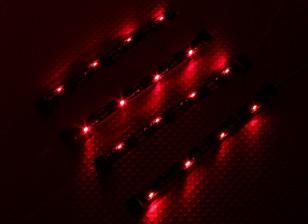 7 modalità RC Auto sistema di telaio di illuminazione (Red)