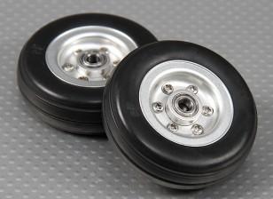 Scala Jet / Warbird lega della rotella 57 millimetri w / profilo in gomma Tire / Ballraced (2pc)