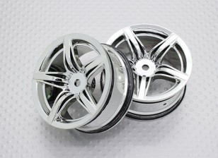 Scala 1:10 di alta qualità Touring / Drift Wheels RC 12 millimetri auto Hex (2pc) CR-F12C