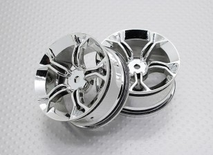 Scala 1:10 di alta qualità Touring / Drift Wheels RC 12 millimetri auto Hex (2pc) CR-MP4C