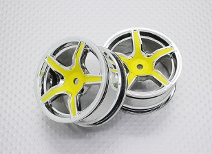 Scala 1:10 di alta qualità Touring / Drift Wheels RC 12 millimetri auto Hex (2pc) CR-C63Y