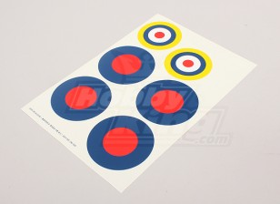 Scala nazionale Air Force Insignia Sticker Sheet - UK (tipo B)