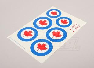 Scala nazionale Air Force Insignia Sticker Sheet - Canada