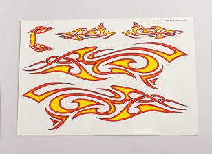 Tribal foglio decal Grande 445mmx300mm