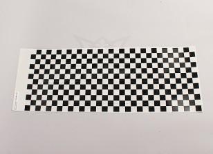 Foglio decal Piccolo Chequer modello nero / trasparente 590mmx180mm