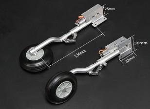 Turnigy Full Metal Servoless 90 gradi si ritrae con 134 mm Oleo gambe (2 pezzi)
