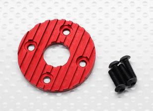 Di alluminio di CNC del motore del dissipatore di calore del piatto 36 millimetri (Red)
