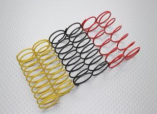 Fronte Shock Springs nero / giallo / rosso (2 pezzi ogni colore) - A2038 e A3015