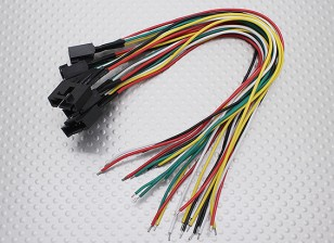 Molex 5 pin cavo connettore femmina con 230 millimetri x 26AWG Wire (5pc)