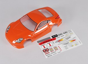 Sport Car Body w / Sticker (arancione) - Turnigy TR-V7 1/16 Brushless Drift auto w / Carbon Chassis
