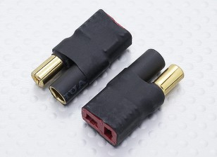 5,5 millimetri proiettile connettore a T-connettore dell'adattatore Cavo batteria (2pc)