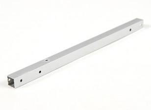 Alluminio Tubo quadrato fai da te multi-rotore 12.8x12.8x250mm X525 (.5Inch) (argento)
