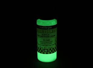 Vallejo Premium colore vernice acrilica - fosforescente (60ml)