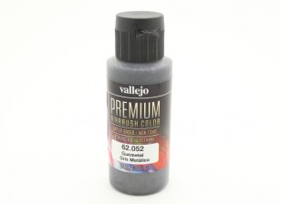 Vallejo Premium colore vernice acrilica - Gunmetal (60ml)