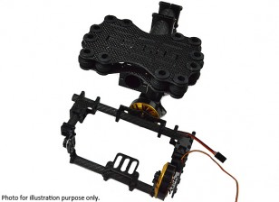 3 Kit GH2 / Tempesta occhi Brushless giunto cardanico Full Carbon (Mini DSLR)