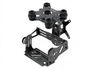 Kit in fibra di carbonio GoPro Brushless 2 Axis Gimbal con Damping