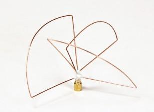 Circolare 1.2GHz polarizzata trasmettitore antenna (SMA) (LHCP) (Short)