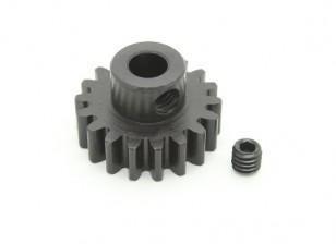 18T / 5mm M1 acciaio temperato pignone (1pc)