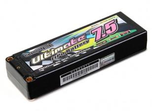 Turnigy nano-tech ultima 7500mAh 2S2P 90C Hardcase Lipo Pack (ROAR e BRCA approvato)