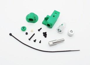 RotorBits Servo Mount Set w / Gear (verde)