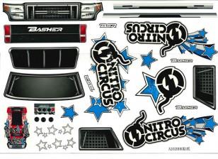 set murale - Nitro Circus Basher scala 1/8 Monster Truck