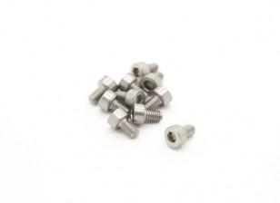 Titanium M2.5 x 4 Sockethead esagonale Vite (10pcs / bag)