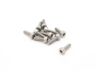 Titanium M2,5 x 8 Sockethead esagonale Vite (10pcs / bag)