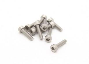 Titanium M3 x 12 Sockethead esagonale Vite (10pcs / bag)