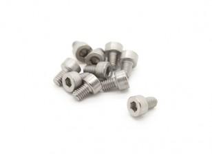 Titanium M4 x 6 Sockethead esagonale Vite (10pcs / bag)