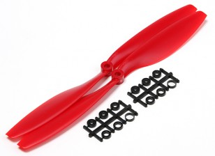 Turnigy Slowfly dell'elica 10x4.5 Rosso (CW) (2 pezzi)
