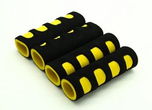 Schiuma EVA giunto cardanico manico giallo / nero (107x34x22mm) (4 pezzi)