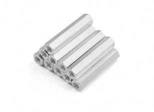 Alluminio leggero Hex Sezione Spacer M3 x 24 millimetri (10pcs / set)