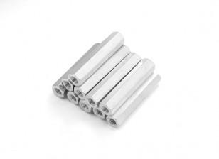 Alluminio leggero Hex Sezione Spacer M3 x 25mm (10pcs / set)